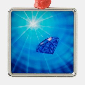 Diamant - Reichtum Silbernes Ornament