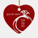 Diamant-Ring-Andenken-Hochzeits-Verzierung Ornamente