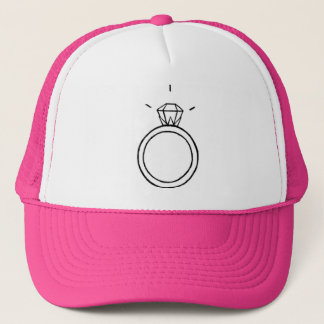 Diamant-Ring-Baseballmütze im PINK Truckerkappe