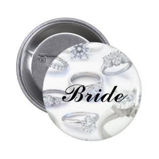 Diamant-Ringe Runder Button 5,7 Cm