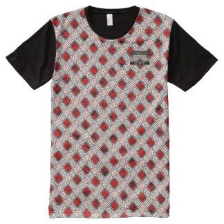 Diamant-roter Polka-Punkt-Designer-moderner T - T-Shirt Mit Bedruckbarer Vorderseite