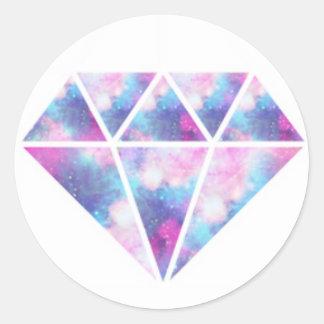 Diamant Runder Aufkleber
