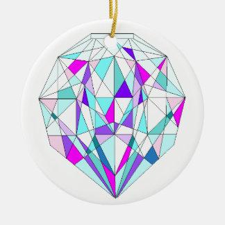 Diamant-Schein Keramik Ornament