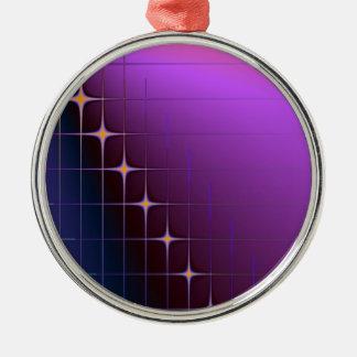 Diamant-Schnitt-Verzierung Silbernes Ornament