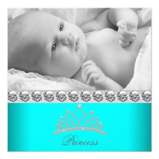 Diamant-Tiara-Prinzessin Baby Birth Announcements Personalisierte Einladungskarten