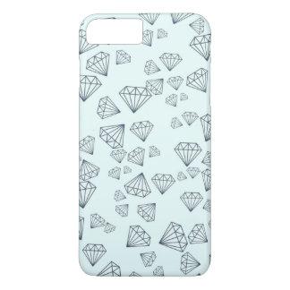 Diamant Tiffanys blaue geometrische iPhone 7 iPhone 8 Plus/7 Plus Hülle