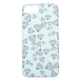 Diamant Tiffanys blauer geometrischer iPhone 7 iPhone 8/7 Hülle