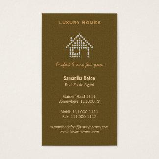 Diamant-Zuhause-wirkliche Anwesen-Geschäfts-Karte Visitenkarte