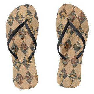 Diamanten auf den Sohlen Ihrer Füße Flip Flops