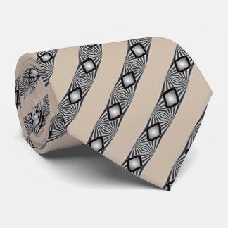 Diamanten mit Streifen-Bindungen Krawatte