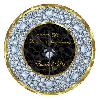 Diamanten, Schwarzes u. Hochzeitstag des Gold50. Uhren