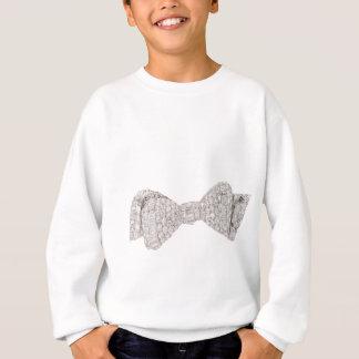 Diamanten und weißes Goldbogen-Krawatte Sweatshirt