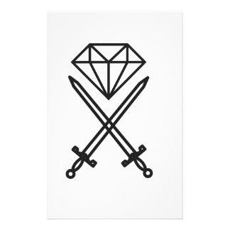 Diamantschnitt Briefpapier