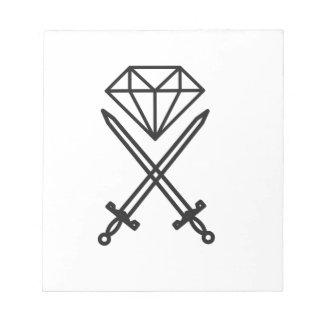 Diamantschnitt Notizblock
