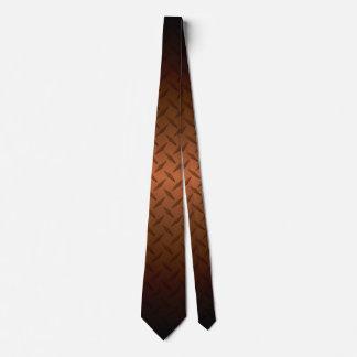Diamondplate Muster mit Schwarzem zum Kupfer Bedruckte Krawatten