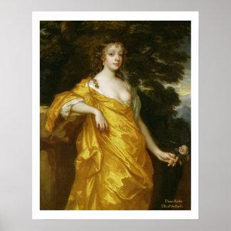 Diana Kirke, neuere Gräfin von Oxford, c.1665-70 ( Plakatdruck