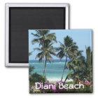 Diani Beach nahe Mombasa Afrka Quadratischer Magnet