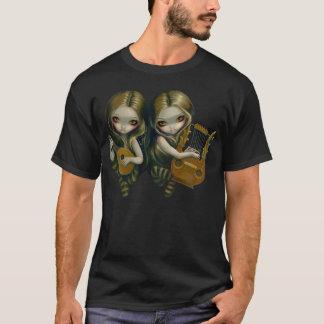 Dichtungskitt-und Lyre-gotisches feenhaftes Shirt