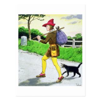 Dick Whittington (1358-1423) und seine Katze, 'vom Postkarte