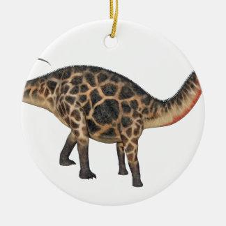 Dicraeosaurus im Seitenprofil Keramik Ornament
