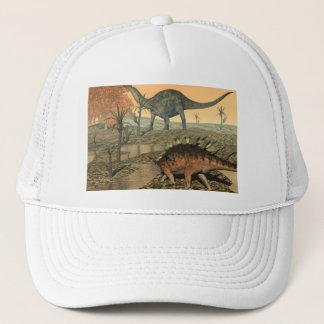 Dicraeosaurus- und Kentrosaurusdinosaurier Truckerkappe