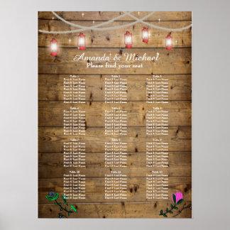 Die 12 Tabellen-rustikale Laterne beleuchtet Poster