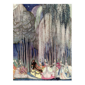 Die 12 tanzenden Prinzessinnen im Wald durch Postkarte