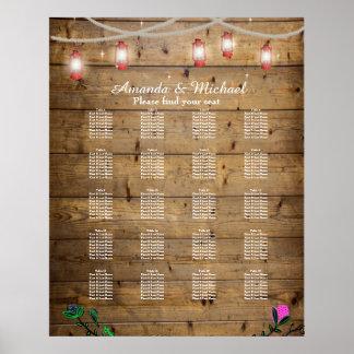Die 20 Tabellen-rustikale Laterne beleuchtet Poster