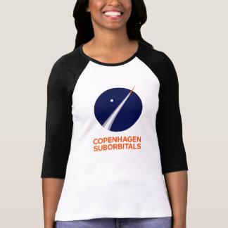 Die 3/4 Hülse der Frauen mit Logo Kopenhagens T-Shirt
