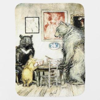 Die 3 Bärn-Baby-Decke Puckdecke