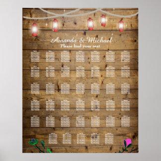 Die 40 Tabellen-rustikale Laterne beleuchtet Poster