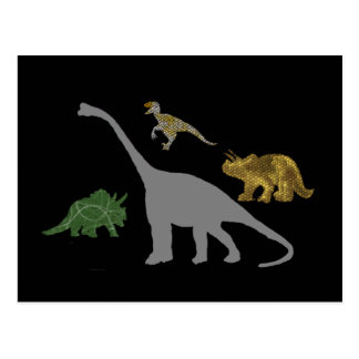 Die 4 Dinos Postkarte