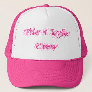 Die 4 Lyfe Crew Hut-Masche Hut-Rosa Truckerkappe