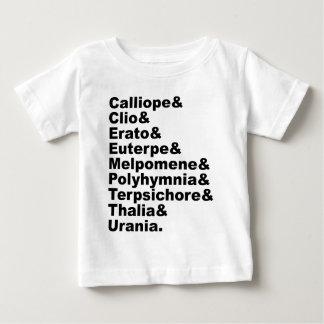 Die 9 Musen, wie durch griechische Mythologie Baby T-shirt