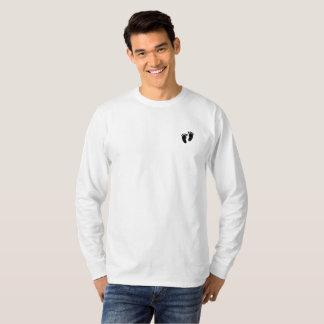 Die Abdruck-langer Hülsen-T - Shirt der Männer