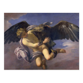 Die Abduktion von Ganymede, 1700 (Öl auf Leinwand) Postkarte