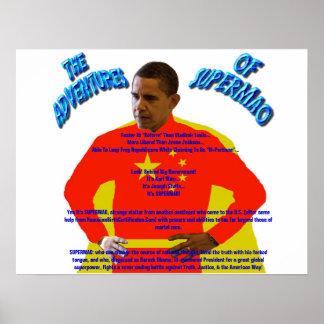 Die Abenteuer von SUPERMAO - Barack Obama Posterdrucke