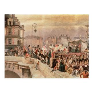 Die Abfahrt der Freiwilligen 1792 Postkarte