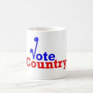 Die Abstimmungs-Land-Tasse Kaffeetasse