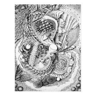 Die abstrakte Kunst von Michael Pearson Postkarte