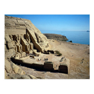 Die Abu Simbel Tempel, Ägypten-Wüste Postkarte