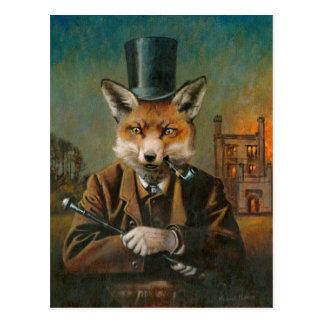Die adrette Fox-Postkarte Postkarte