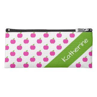 Die adretten Äpfel des rosa und grünen Lehrers Stiftetasche