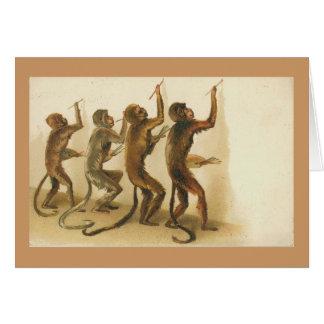 Die Affe-Künstler Karte