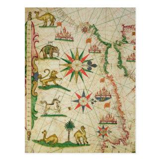 Die afrikanische Nordküste, von einem Seeatlas Postkarte