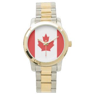 Die Ahornblattflagge von Kanada Armbanduhr