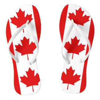 Die Ahornblattflagge von Kanada Flip Flops