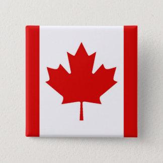 Die Ahornblattflagge von Kanada Quadratischer Button 5,1 Cm