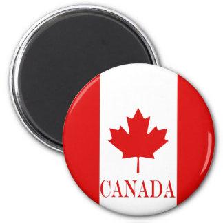 Die Ahornblattflagge von Kanada Runder Magnet 5,7 Cm
