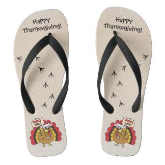 Die alberne Türkei für Erntedank Flip Flops